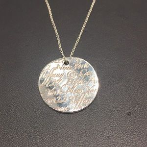Tiffany and Co. New York Note necklace